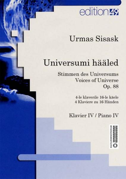 Stimmen des Universums op. 88 / Voices of Universe op. 88 / Universumi hääled op. 88