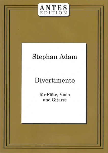 Divertimento für Querflöte, Viola und Gitarre