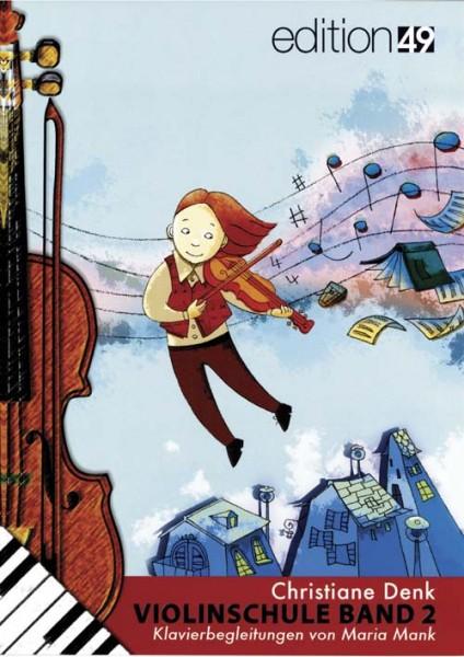 Klavierbegleitheft zur Violinschule Band 2 von Christiane Denk