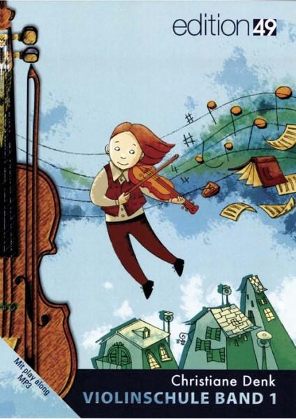 Violinschule Band 1 von Christiane Denk für Anfänger mit Play along MP3-s