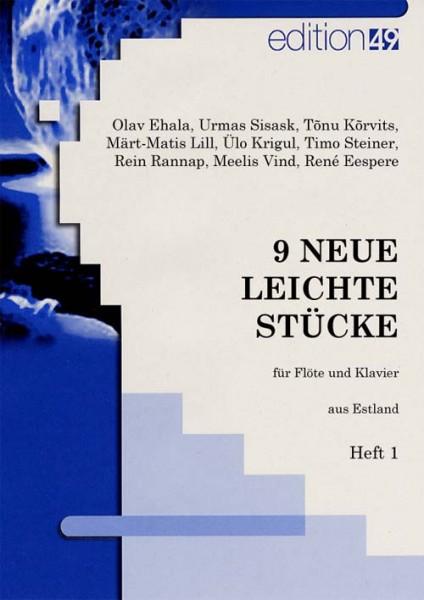 9 neue leichte Stücke für Flöte und Klavier aus Estland, Heft 1