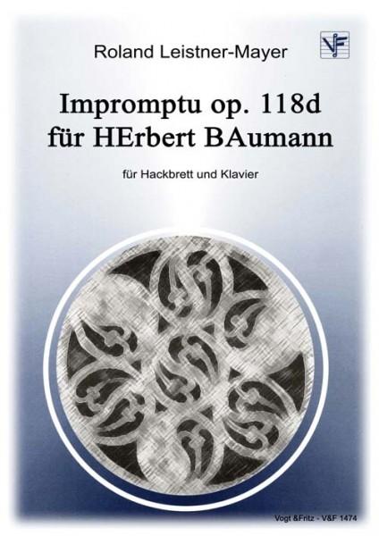 Impromptu op. 118d für HErbert BAumann