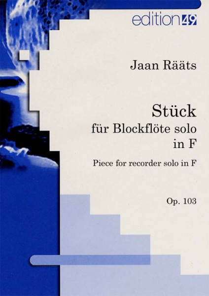 Stück für Blockflöte in F, op. 103 / Piece for Recorder in F, op. 103